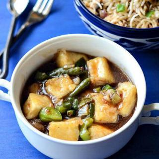 chilli paneer gravy-how to make chilli paneer