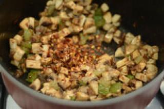 how to make indian mushroom fried rice recipe-5
