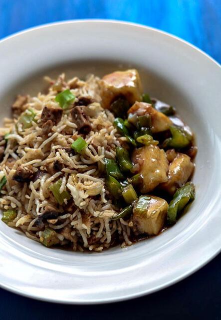 how to make indian mushroom fried rice recipe