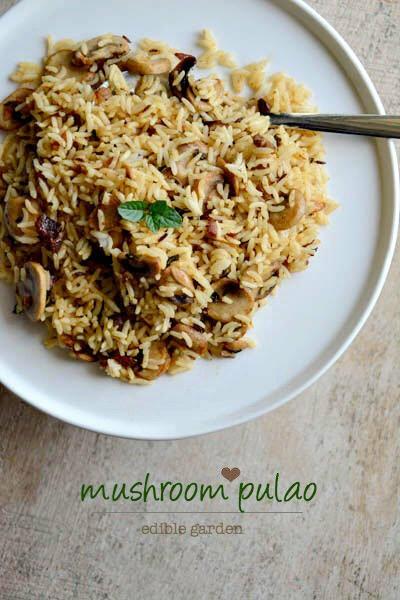 mushroom pulao-mushroom pulao recipe
