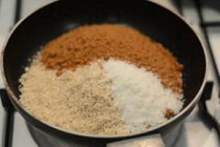 coconut sesame ladoo diwali sweet recipe-6