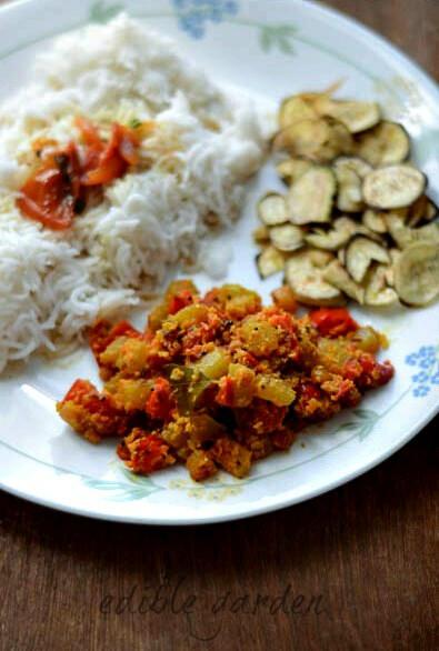 chow chow capsicum curry recipe