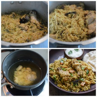 pressure cooker chicken biryani recipe