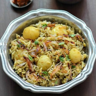 Baby potato biryani recipe, baby potato biryani step by step