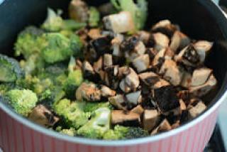 broccoli mushroom fried rice recipe-4