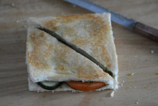 Grilled Vegetable Sandwich Recipe - Easy Indian Evening Snacks