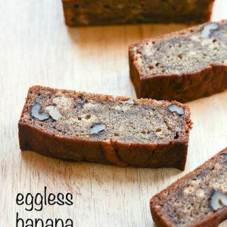 Eggless Banana Bread Recipe, Eggless Banana Nut Bread