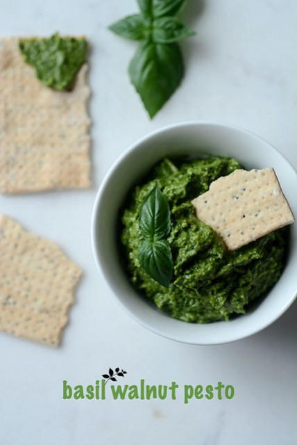 how to make walnut basil pesto recipe