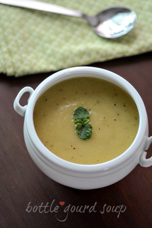 bottle gourd soup recipe, how to make bottle gourd soup