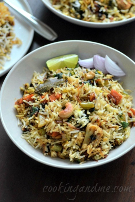 hyderabadi vegetable dum biryani, veg dum biryani recipe