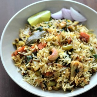 Hyderabadi vegetable dum biryani recipe, veg dum biryani