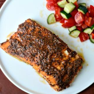 Baked salmon recipe, Indian-style baked salmon
