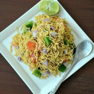 Sev chaat recipe, quick & easy evening snack recipe