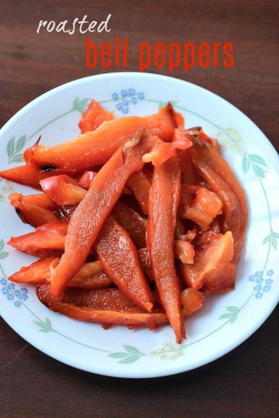 roasted capsicum recipe