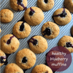 healthy blueberry muffins recipe
