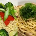 野菜たっぷりペペロンチーノ・ごま油香るペペロンチーノの作り方