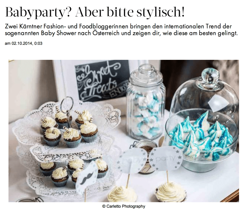 MATTEOs Babyparty im Magazin Babyparty