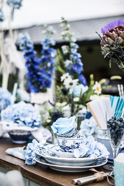 Blau Blumen, Blüten & Porzellan