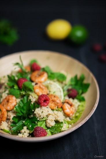 Couscous Garnelen Salat