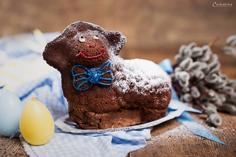 Chocolate easter lamb