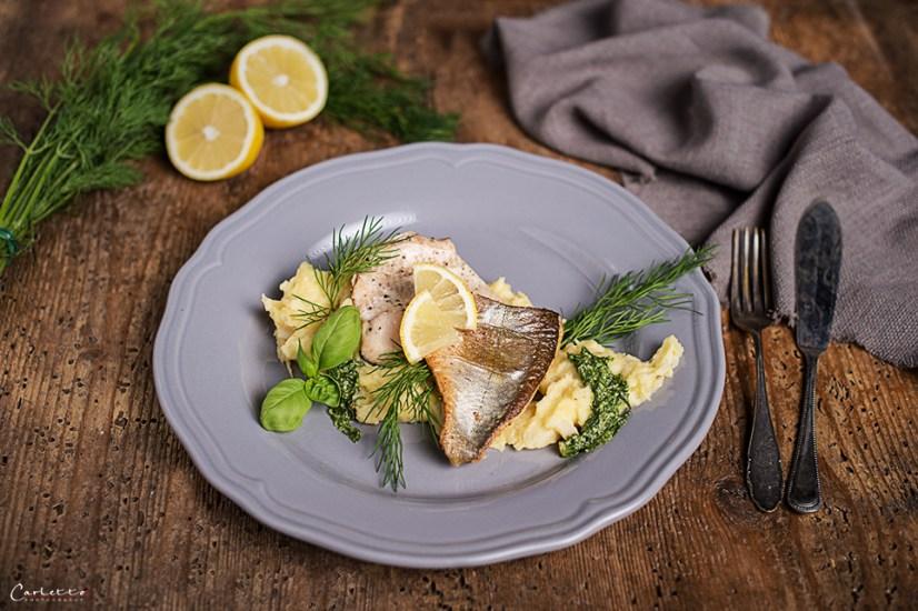 Kräuter, Pastinaken & Fisch harmoniert gut