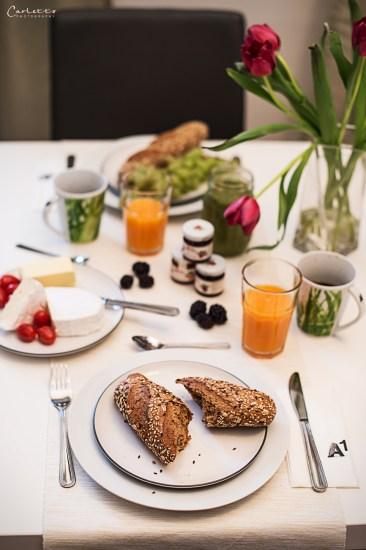 Frühstück in gemütlicher Atmosphäre