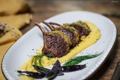 Lamb and polenta