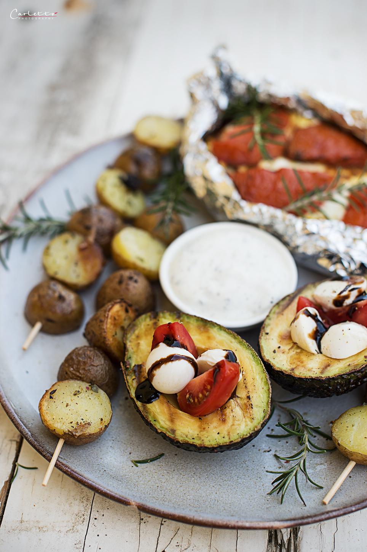 Vegetarischer Grillteller