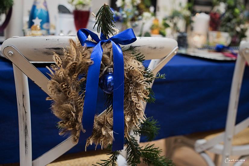 weihnachtstisch blau