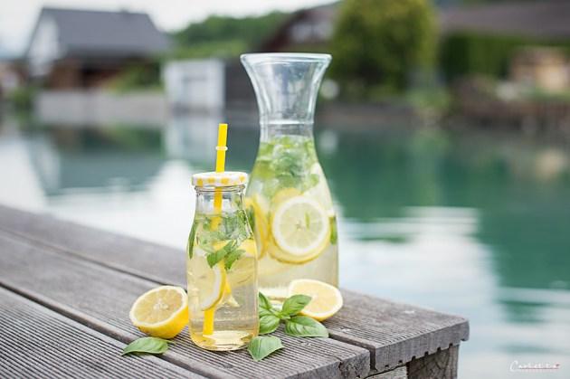 basil lemon sprizz
