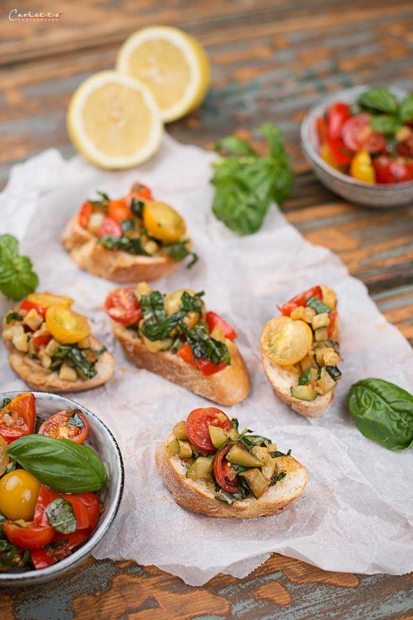Bruscetta mit Chili Gemüse