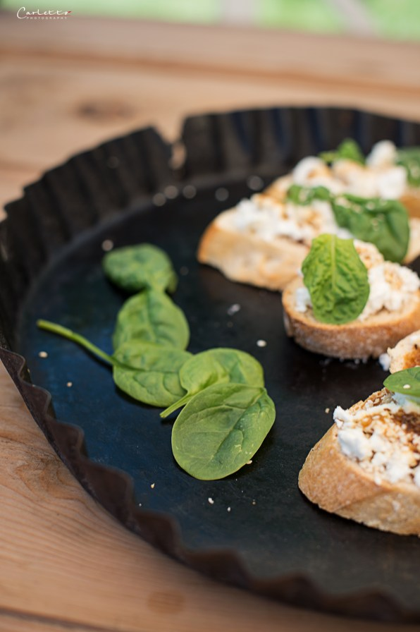 Bruschetta Feta Spinat
