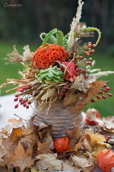 Bunter Herbsttisch