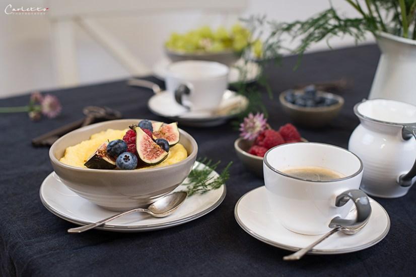 Polenta Porridge, Frühstück, Porridge