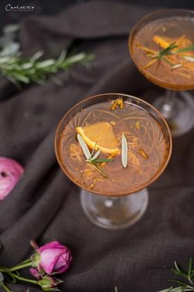 Orangen Tee Martini