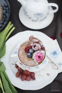 Rosen Zitronen Tassenkuchen