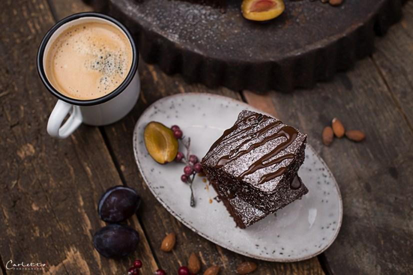 Kaffee Brownies mit Kaffee Eiscreme