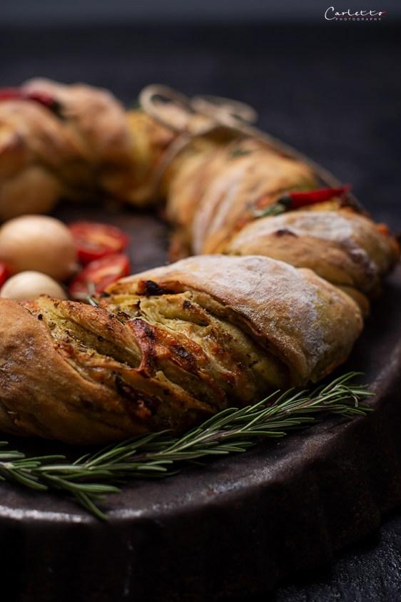 Würziger Käse Pesto Kranz