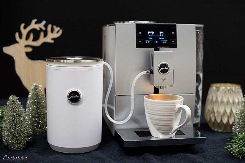 Kaffee Streuselkuchen, Jura Kaffeemaschine, Jura Milchschäumer, Adventstisch