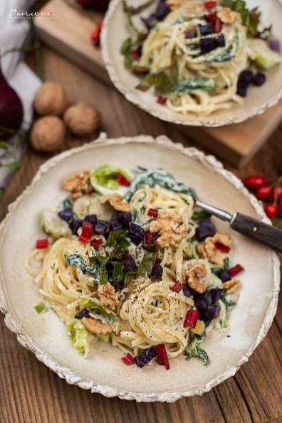 Herbst Pasta mit Blauschimmelkäse_4146