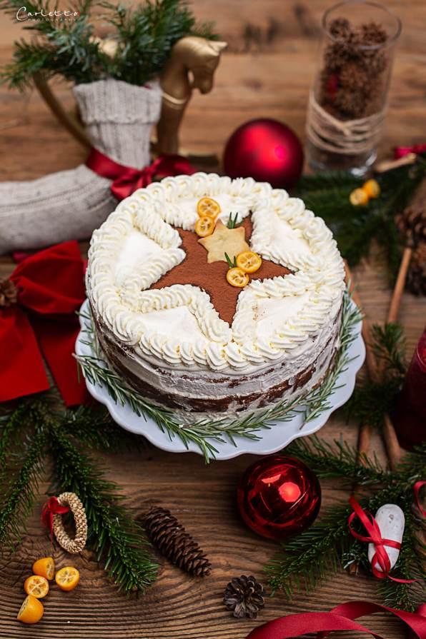 cremige Weihnachtstorte