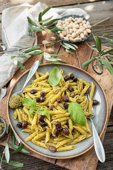 Penne Basilikum Pesto_7662