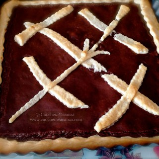 A special sweet and confort recipe in Tuscany: #No Eggs Chocolate Cream and Gluten Free Tart
