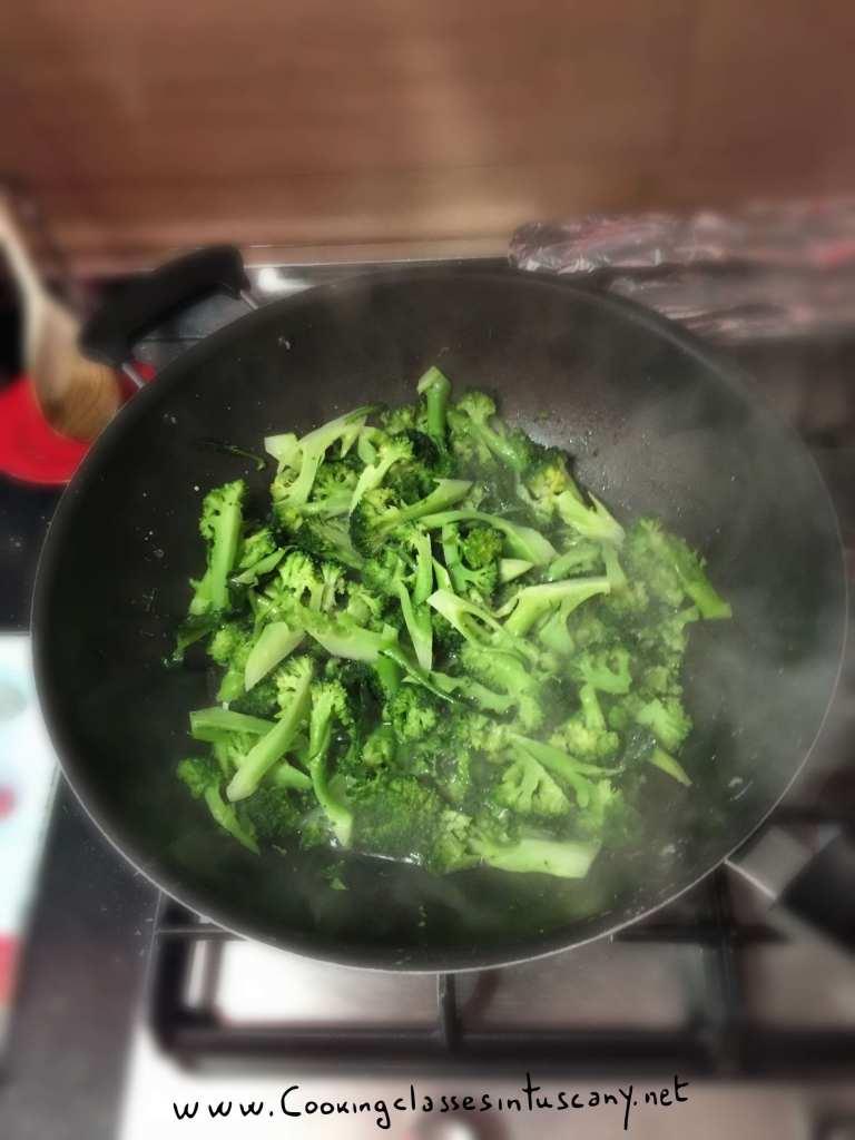 organic cookingclass pasta broccoli