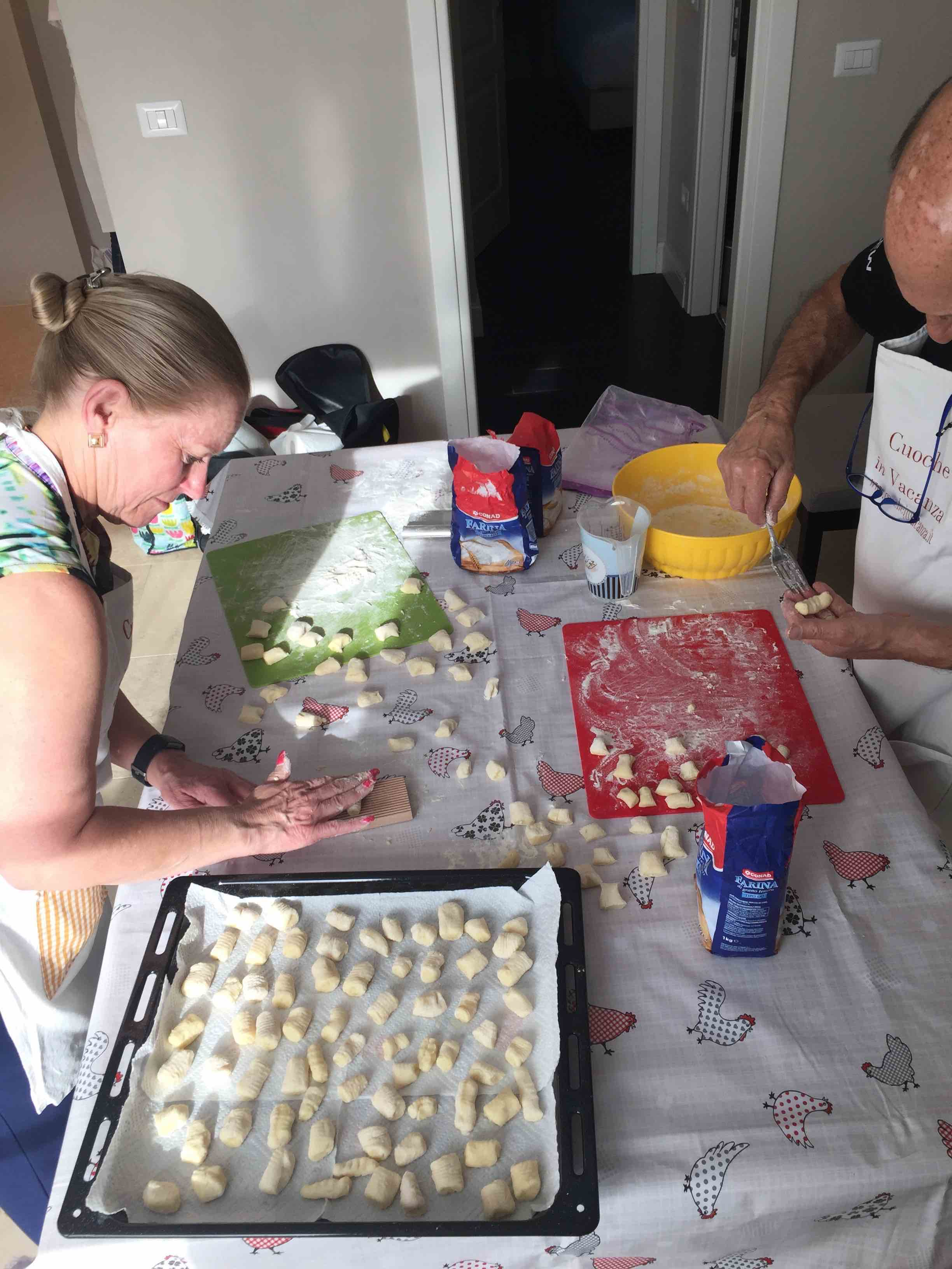 gnocchi cookingclass tuscany