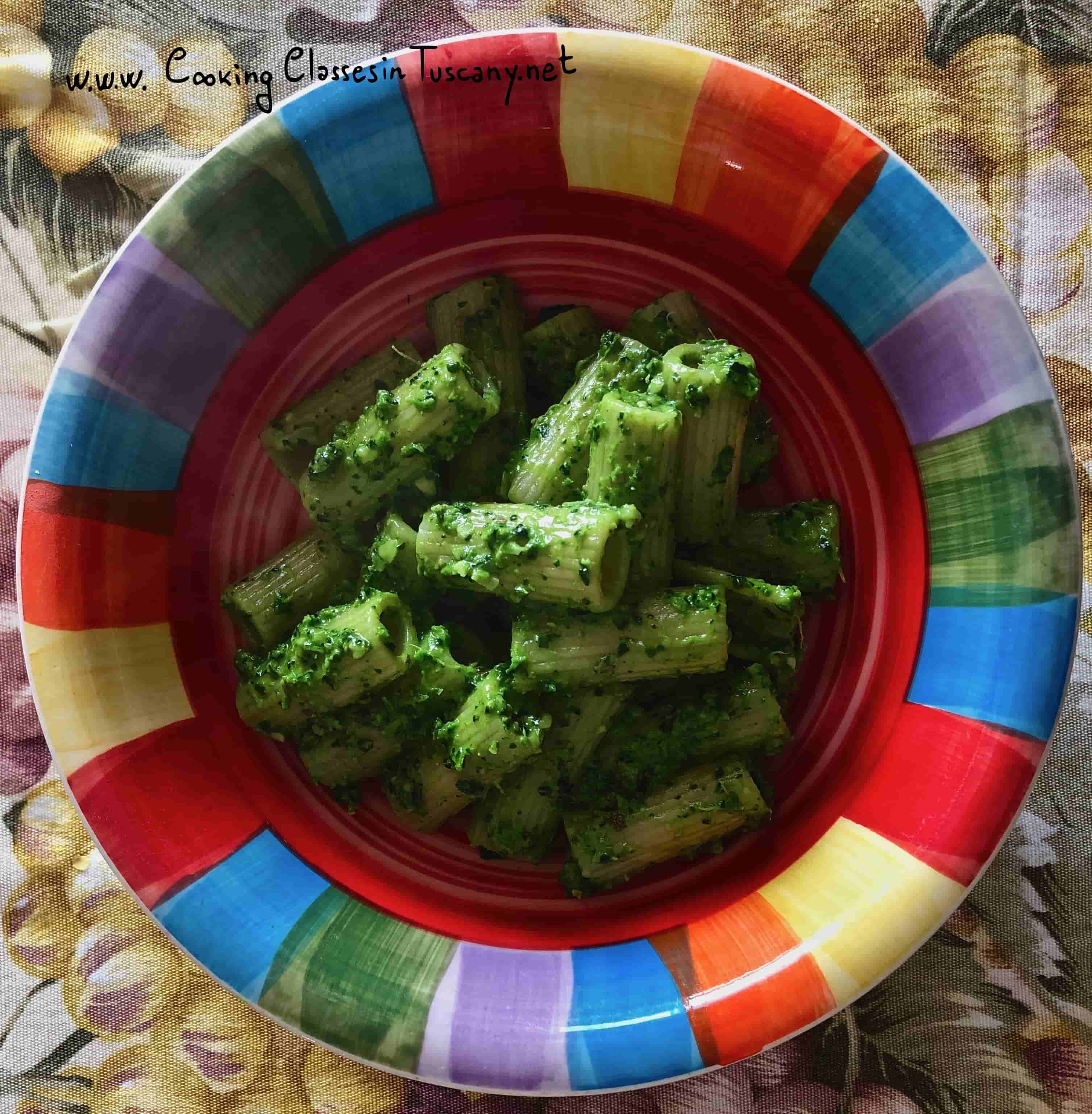 chef for vacation kale pesto sauce