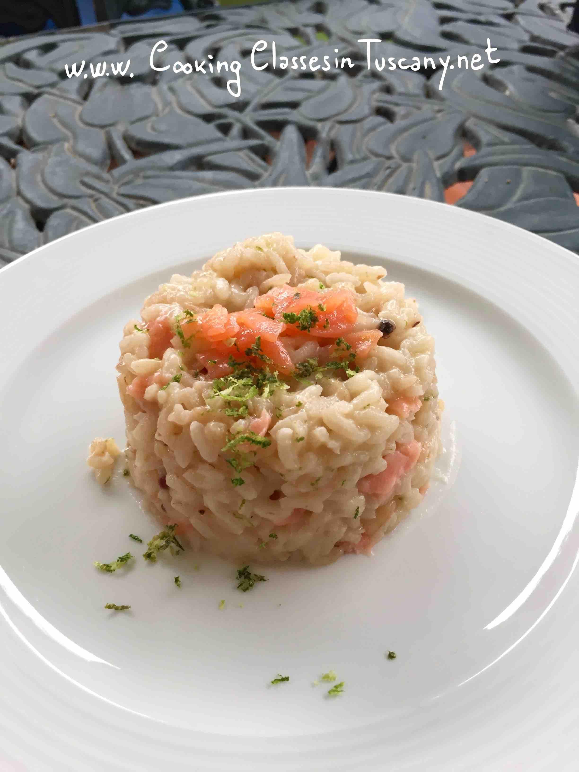 chef in villa risotto salmon and lime recipe