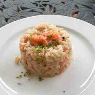 risotto salmon and lime recipe