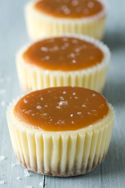Salted Caramel Cheesecake Cupcakes | Cooking Classy