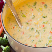 Cheddar broccoli potato soup